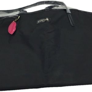 LANCOME Paris Black Full Sized Tote Bag  Pink Lip